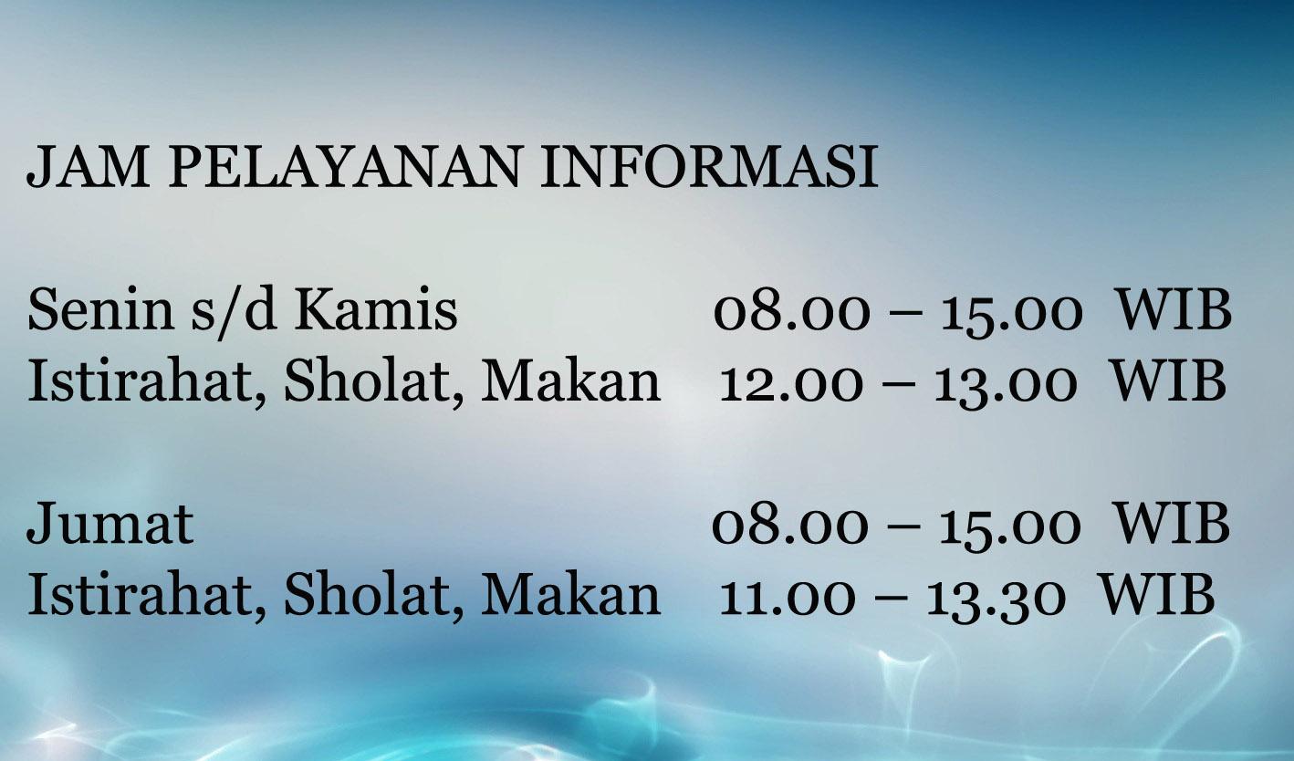 Jam Pelayanan Informasi