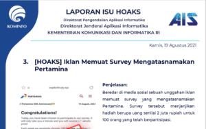 Isu Hoaks 19 Agustus 2021