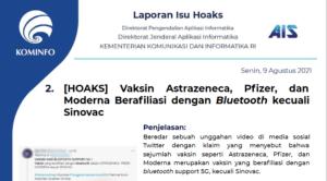 Isu Hoaks 9 Agustus 2021