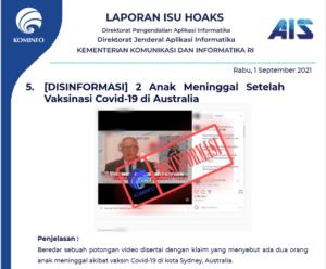 Isu Hoaks 1 September 2021