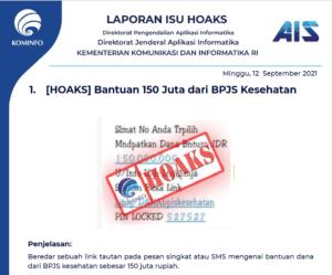 Isu Hoaks 12 September 2021