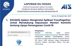 Isu Hoaks 16 September 2021