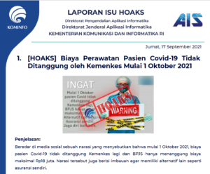 Isu Hoaks 17 September 2021