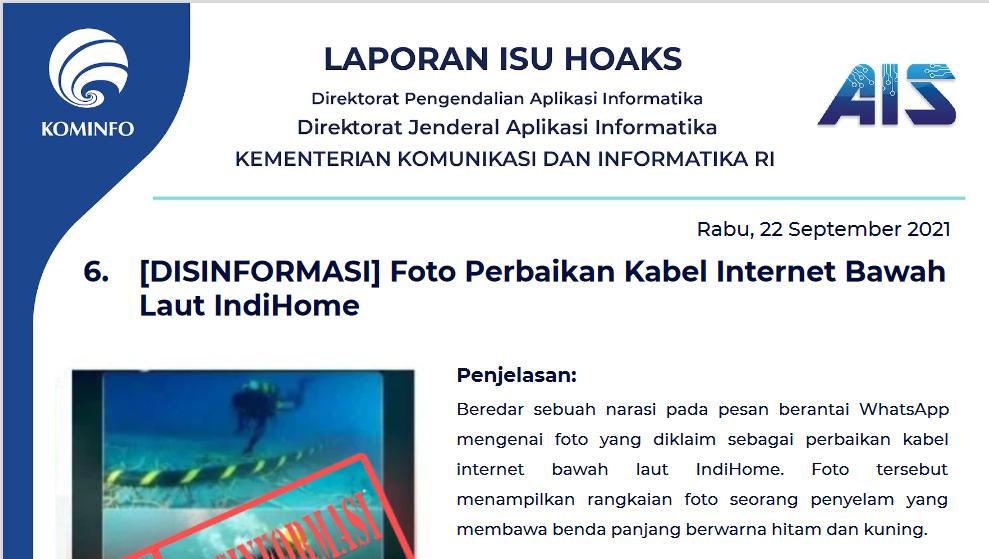 Isu Hoaks 22 September 2021
