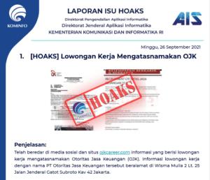Isu Hoaks 26 September 2021