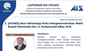 Isu Hoaks 29 September 2021