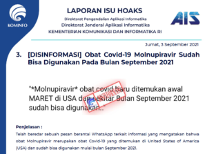 Isu Hoaks 3 September 2021
